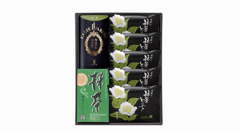 抹茶カステーラ・抹茶ラスク・抹茶どらやき(5個入)の詰め合わせ1